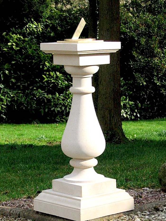 incredible Sundial Pedestal Base Part - 9: SD30 Small Baluster Sundial Plinth with 17 cm. square base Spot-On Sundial  (right)